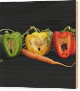 The Pepper Trio Wood Print