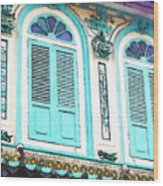 The Peranakan Building  Wood Print