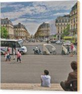 The Perfect View- Avenue De L'opera Paris  Wood Print
