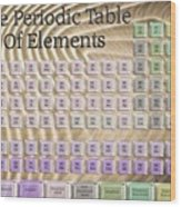 The Periodic Table Of Elements 1 Wood Print