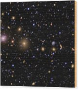 The Perseus Galaxy Cluster Wood Print