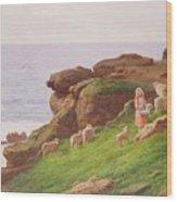 The Pet Lamb Wood Print by J Hardwicke Lewis