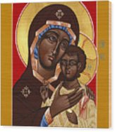 The Petrovskya Icon Of The Mother Of God 128 Wood Print