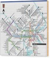 The Philadelphia Pubway Map Wood Print