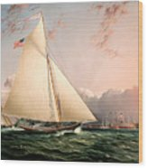 The Philip R. Paulding In New York Harbor Wood Print