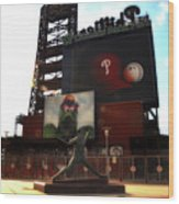 The Phillies - Steve Carlton Wood Print by Bill Cannon