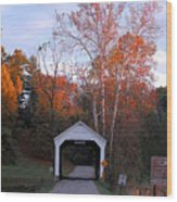 The Phillips Covered Bridge Wood Print