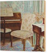 The Piano Room Wood Print