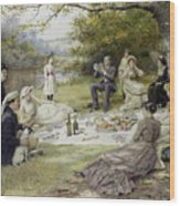 The Picnic Wood Print