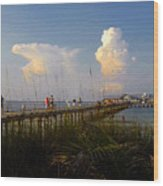 The Pier On Anna Maria Island Wood Print