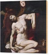The Pieta Wood Print by Daniele Crespi