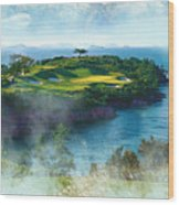 The Pine And Beach Links Wood Print