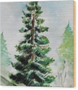 The Pine  Wood Print