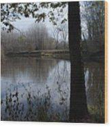 The Pine River Wood Print