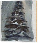 The Pine Tree Wood Print