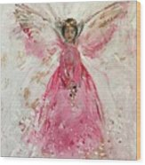 The Pink Angel  Wood Print
