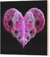 The Pink Heart Wood Print