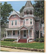 The Pink House 2 Wood Print