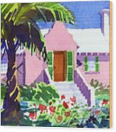 The Pink Palace Wood Print