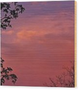 The Pink Sky Wood Print