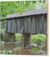 The Pisgah Covered Bridge Wood Print