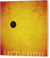 The Planet Mercury Wood Print by Michael Tompsett