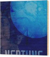 The Planet Neptune Wood Print by Michael Tompsett