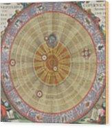 The Planisphere Of Copernicus Harmonia Wood Print
