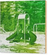 The Playground I - Ocean County Park Wood Print