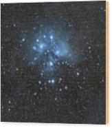 The Pleiades, Also Known As The Seven Wood Print by John Davis