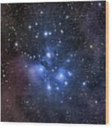 The Pleiades, Also Known As The Seven Wood Print