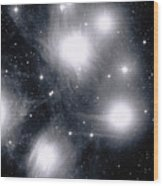 The Pleiades Star Cluster, Also Known Wood Print by Stocktrek Images
