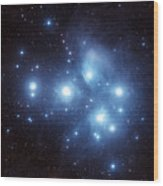The Pleiades Star Cluster Wood Print by Charles Shahar