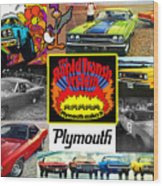The Plymouth Rapid Transit System Collage Wood Print