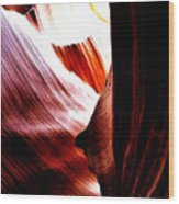 The Polished Rocks Of Lower Antelope Canyon Wood Print