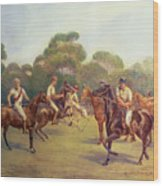 The Polo Match Wood Print