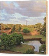 The Pond At Prince Kuhio Park Wood Print