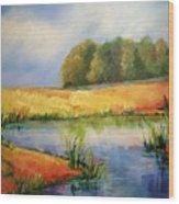 The Pond Wood Print
