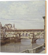 The Pontevecchio - Florence  Wood Print