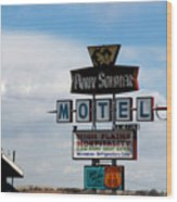 The Pony Soldier Motel On Route 66 Wood Print