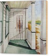 The Porch Wood Print