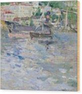 The Port At Nice Wood Print