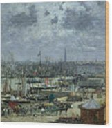 The Port Of Bordeaux Wood Print by Eugene Louis Boudin