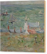 The Port Of Gorey On Jersey Wood Print by Berthe Morisot