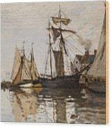 The Port Of Honfleur Wood Print