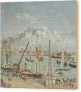 The Port Of Le Havre In The Afternoon Sun Wood Print