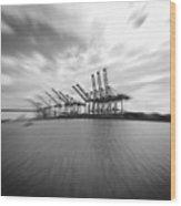 The Port Of Los Angeles Wood Print