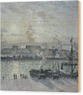 The Port Of Rouen Wood Print