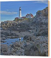The Portland Lighthouse Wood Print