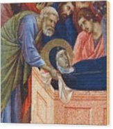 The Position Of Mary In The Tomb Fragment 1311 Wood Print